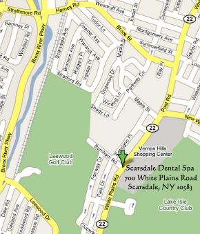 map of scarsdale dental spa